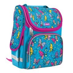 Рюкзак каркасный SmartPG-11 Bright butterflies голубой 557723