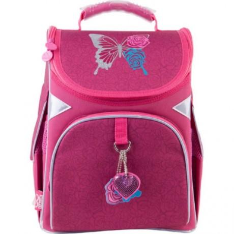 Рюкзак GoPack Education каркасный 5001-1 Butterfly and roses