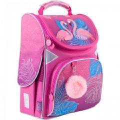 Рюкзак GoPack Education каркасный 5001-4 Pink flamingoes