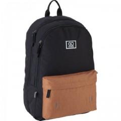 Рюкзак GoPack Сity 140-2 чорний, гірчичний