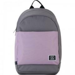 Рюкзак GoPack Сity 173-1 сірий, рожевий